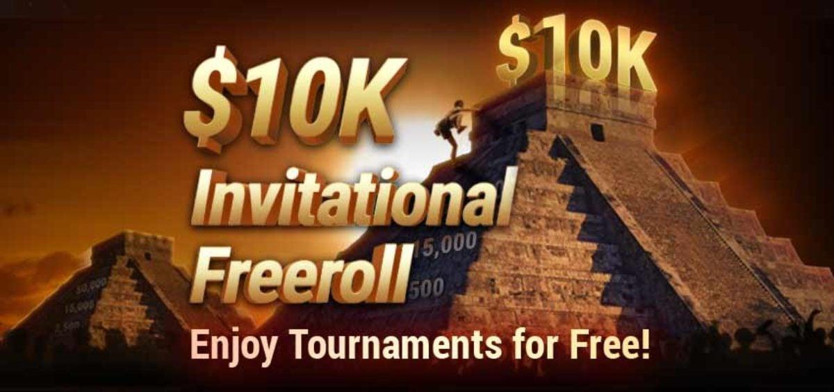 $10K Invitational Freeroll online real money poker