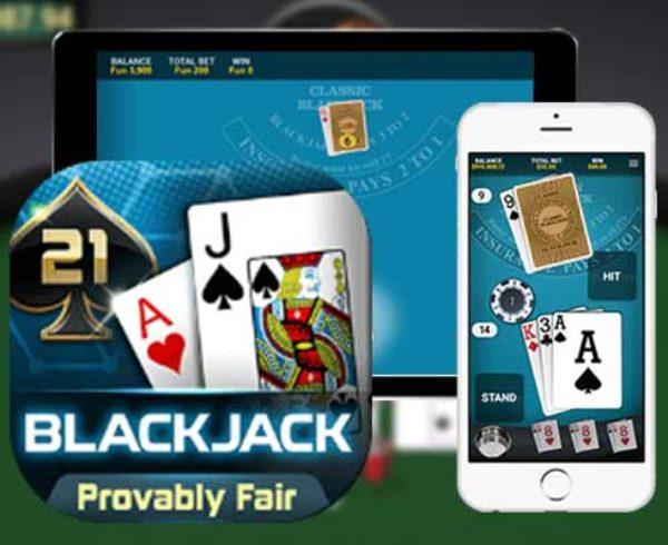 live Blackjack online poker casino side games