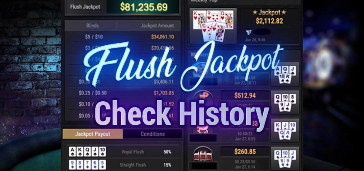 eal money poker app select Flush Jackpot history