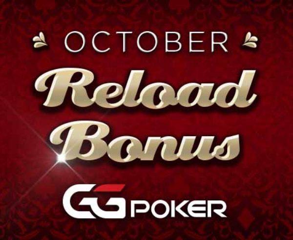 October real money poker Reload Bonus